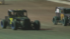Colorado dirt track racing - CO Dwarf Cars Stock Footage