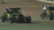 Stock Video Footage of Colorado dirt track racing - CO Dwarf Cars