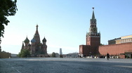 Stock Video Footage of RED SQUARE KREMLIN