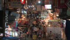 Stock Video Footage of Indian market night time