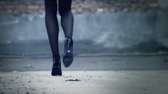 High Heels and Nylon Stockings 2 - stock footage