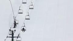 Ski Lift 1959 Stock Footage