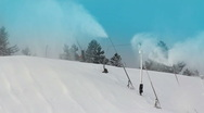 Stock Video Footage of Snow Making Machine 1971