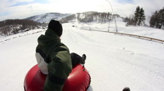 Snow Tubing 1974 Stock Footage