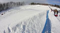 Snow Tubing 1976 Stock Footage
