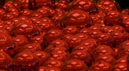 Stock Video Footage of HD Christmas Red Balls