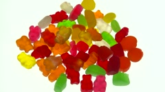Jelly-babies isolated, 2nd Stock Footage