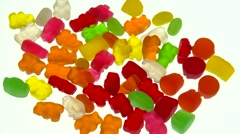 Jelly-babies isolated Stock Footage