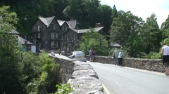 Stone Bridge in Betws-y-Coed Stock Footage