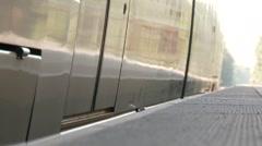 Passenger Train Boarding Stock Footage