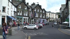 Ambleside Street Stock Footage