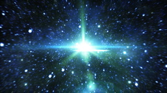 Flight through space. Great for background. Loopable Stock Footage