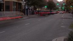 HD - Dusk down traffic loop in tme lapse  Stock Footage