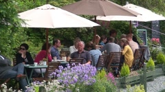 Ambleside Cafe Stock Footage