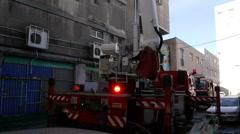 Fire crane tilt Stock Footage