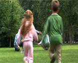 Running children Stock Footage