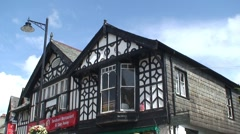 Tudor Style Shops in Windermere Stock Footage