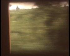 Retro Cine - POV looking through Train WIndow Stock Footage