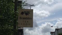 Tea Room sign in Windermere Stock Footage