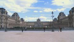 Louvre Museum 1 Stock Footage