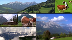 austria alps montage - stock footage