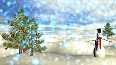 Winter Scene 04 Light Blue Snow  Stock Footage