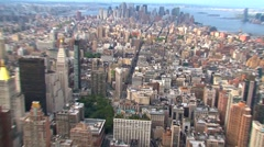 View from the Empire State Building - stock footage