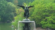 Stock Video Footage of Fountain in Central Park, NYC
