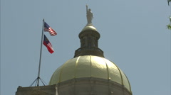 GA state capitol close-up Stock Footage