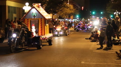 Festival of lights parade - fun and crazy people and three wheelers - 31 Stock Footage