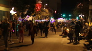 Stock Video Footage of Festival of lights parade - fun and crazy people and vehicles - 33