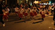 Stock Video Footage of Festival of lights parade - fun and crazy people and vehicles kids group - 35