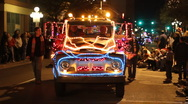 Stock Video Footage of Festival of lights parade - fun and crazy people and vehicles - 41