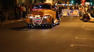 Stock Video Footage of Festival of lights parade - fun and crazy people and vehicles - 42