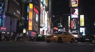 Stock Video Footage of Police car Times Square in the evening, New York City