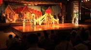 Thai Culture Show With Dancing Stock Footage