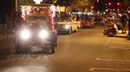 Stock Video Footage of Festival of lights parade - fun and crazy people and vehicles - 48