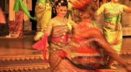 Beautiful Thai Dancers At Cultural Show Stock Footage