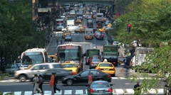 Busy street New York City Stock Footage