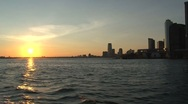 Stock Video Footage of Sunset New York City Skyline