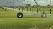 Stock Video Footage of Large Farm Irrigation System Time Lapse 1080