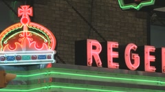Neon theater marquee 02 Stock Footage