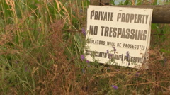 Private Property Violators will be Prosecuted Sign - stock footage