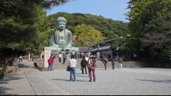 Great Buddha (Daibutsu), Kamakura, Tokyo, Japan Stock Footage