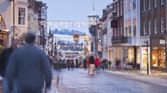 Christmas shopping, Guildford, Surrey, England Stock Footage