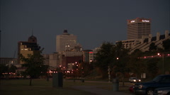 Memphis skyline - stock footage
