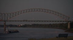 Memphis I-40 bridge - stock footage