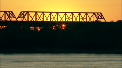 Bridge silhouette Stock Footage