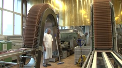 Biscuit manufacturer Wernli AG 30 Stock Footage