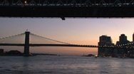 Stock Video Footage of Brooklyn bridge Sunset